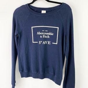 Abercrombie & Fitch Navy Crewneck Sweatshirt